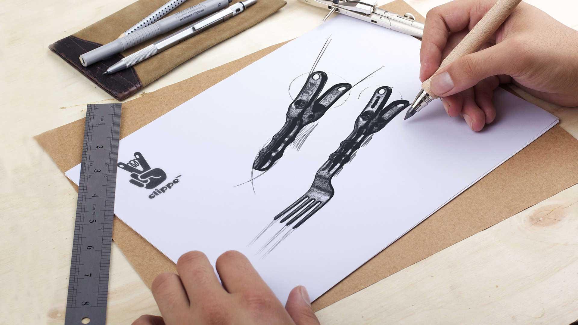 Mollette design nate dagli scarti del metallo. Ecodesign con ironia.