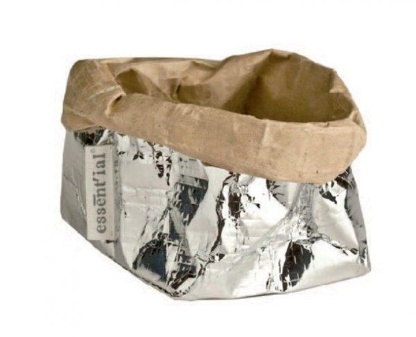 sacchino living esterno argento interno avana