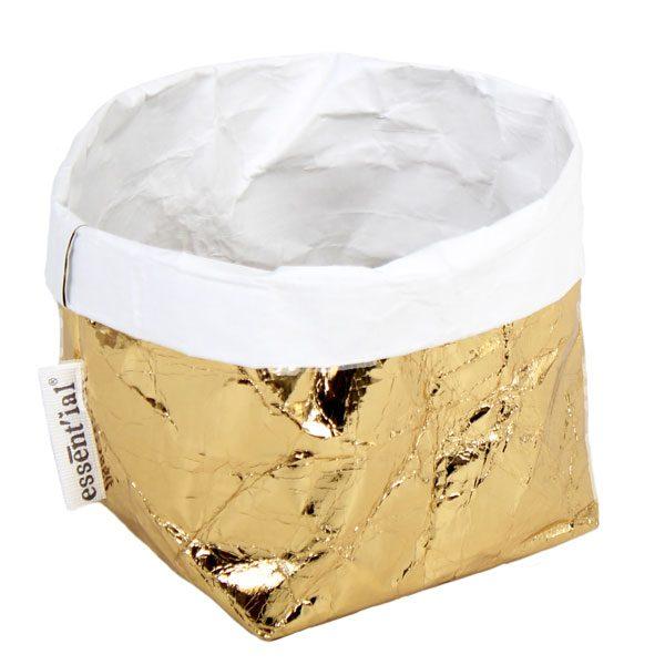 sacchino living esterno oro interno bianco