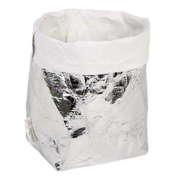 sacchino F esterno silver interno bianco