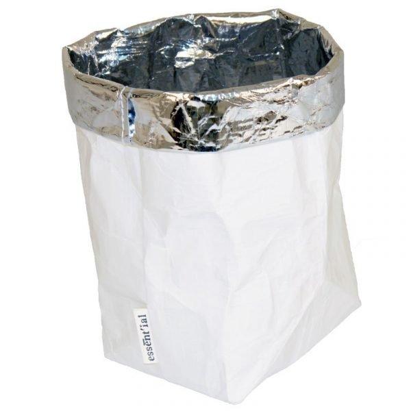 sacchino F bianco con interno argento