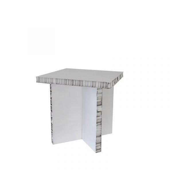 tavolino in cartone sbiancato FSC