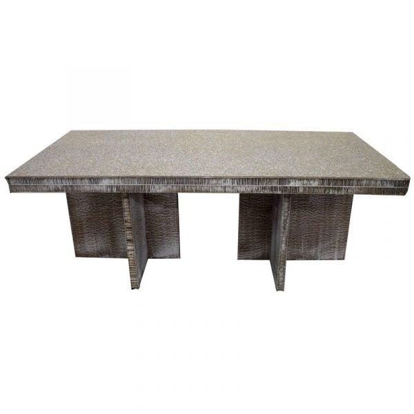 tavolone minimal bianco in cartone FSC