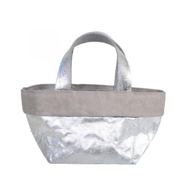 sacchetto bag grigio e argento