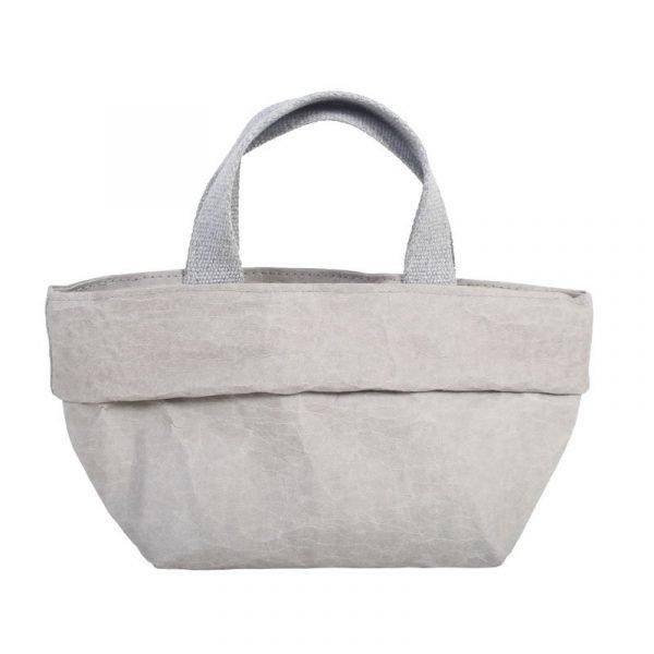 sacchetto bag grigia in carta