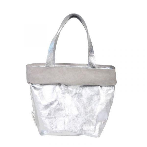 saccaccio bag grigio e argento