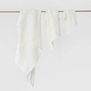 set-asciugamani-nido-d'ape-bianchi